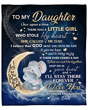 "Moon Elephant Once Upon A Time Dad To Daughter Fleece Blanket - 50"" x 60"" front"