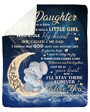"Moon Elephant Once Upon A Time Dad To Daughter Sherpa Fleece Blanket - 50"" x 60"" thumbnail"