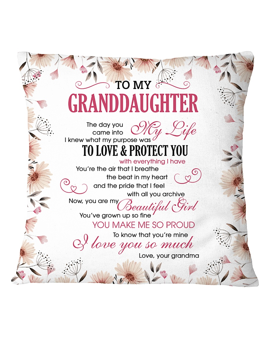 To My Granddaughter Square Pillowcase