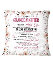 To My Granddaughter Square Pillowcase front