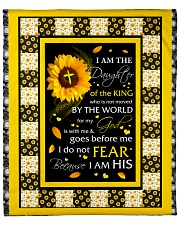 """Sunflower I Am The Daughter Of The King From Dad  Fleece Blanket - 50"""" x 60"""" front"""