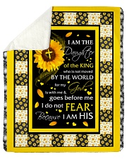 """Sunflower I Am The Daughter Of The King From Dad  Sherpa Fleece Blanket - 50"""" x 60"""" thumbnail"""