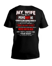 My Wife Is Psychotic V-Neck T-Shirt thumbnail