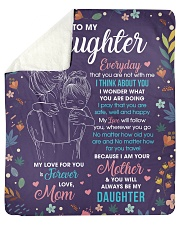 "Daughter My Love ForU Is Forever And Will Follow U Sherpa Fleece Blanket - 50"" x 60"" thumbnail"