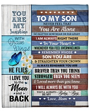 """Never Feel That You Are Alone Mom To Son Fleece Blanket - 50"""" x 60"""" front"""