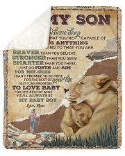 Want U To Believe Deep In Your Heart Mom To Son Sherpa Fleece Blanket tile