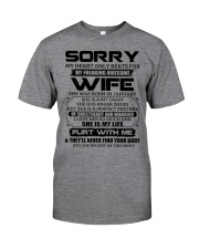 My Heart Only Beats For Wife Was Born In January Classic T-Shirt front