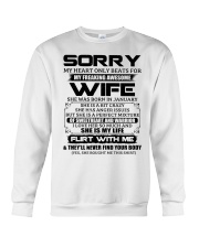 My Heart Only Beats For Wife Was Born In January Crewneck Sweatshirt thumbnail