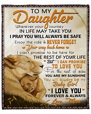 """Wherever Your Journey In Life Lion Mom To Daughter Fleece Blanket - 50"""" x 60"""" front"""