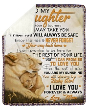 """Wherever Your Journey In Life Lion Mom To Daughter Sherpa Fleece Blanket - 50"""" x 60"""" thumbnail"""