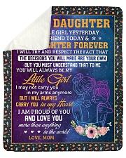 Little Girl Yesterday Friend Today-Mom To Daughter Sherpa Fleece Blanket tile