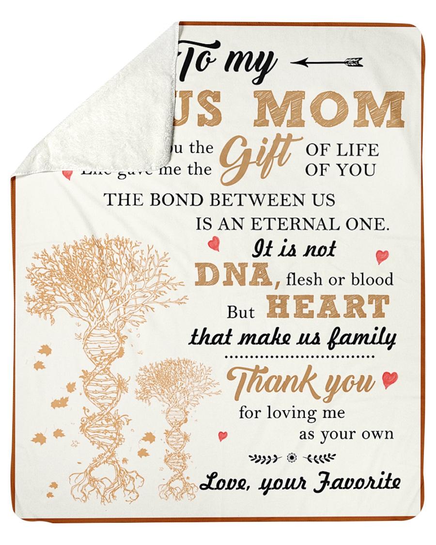 "To My Bonus Mom Thanks For Loving Me As Your Own Sherpa Fleece Blanket - 50"" x 60"""