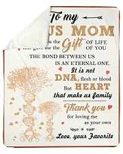 """To My Bonus Mom Thanks For Loving Me As Your Own Sherpa Fleece Blanket - 50"""" x 60"""" front"""