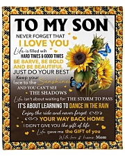 "Never Forget That I Love Sunflower Mom To Son Fleece Blanket - 50"" x 60"" front"