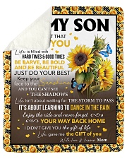 """Never Forget That I Love Sunflower Mom To Son Sherpa Fleece Blanket - 50"""" x 60"""" thumbnail"""