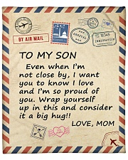 """I Am So Proud Of You Mom To Son Fleece Blanket - 50"""" x 60"""" front"""