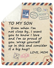 """I Am So Proud Of You Mom To Son Sherpa Fleece Blanket - 50"""" x 60"""" thumbnail"""