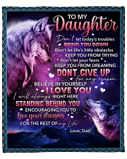 """Don't Let Today's Trouble Bring U Down-To Daughter Fleece Blanket - 50"""" x 60"""" front"""