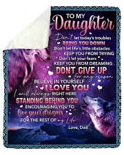 Don't Let Today's Trouble Bring U Down-To Daughter Sherpa Fleece Blanket tile