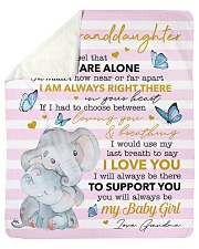 Never Feel U Are Alone Elephants GM To GD Sherpa Fleece Blanket tile