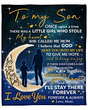"""I Will Stay There Forever Half Moon Mom To Son Fleece Blanket - 50"""" x 60"""" front"""