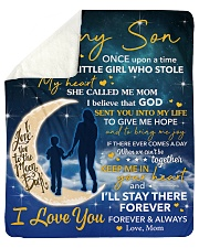 """I Will Stay There Forever Half Moon Mom To Son Sherpa Fleece Blanket - 50"""" x 60"""" thumbnail"""