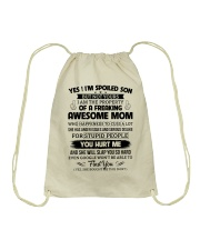 I'm A Spoiled Son Of A Freaking Awesome Mom Drawstring Bag thumbnail