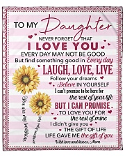 """Never Forget I Love You Mom To Daughter Fleece Blanket - 50"""" x 60"""" front"""