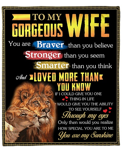 To My Gorgeous Wife Loved More Than You Know