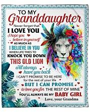 "Never Forget That I Love U GM To Granddaughter Fleece Blanket - 50"" x 60"" front"