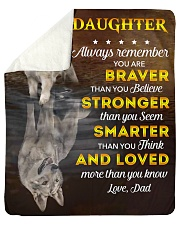 """You Are Braver Stronger Smarter Dad To Daughter Sherpa Fleece Blanket - 50"""" x 60"""" thumbnail"""