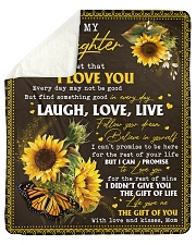 """Never Forget That ILoveU-Sunflower Mom To Daughter Sherpa Fleece Blanket - 50"""" x 60"""" thumbnail"""
