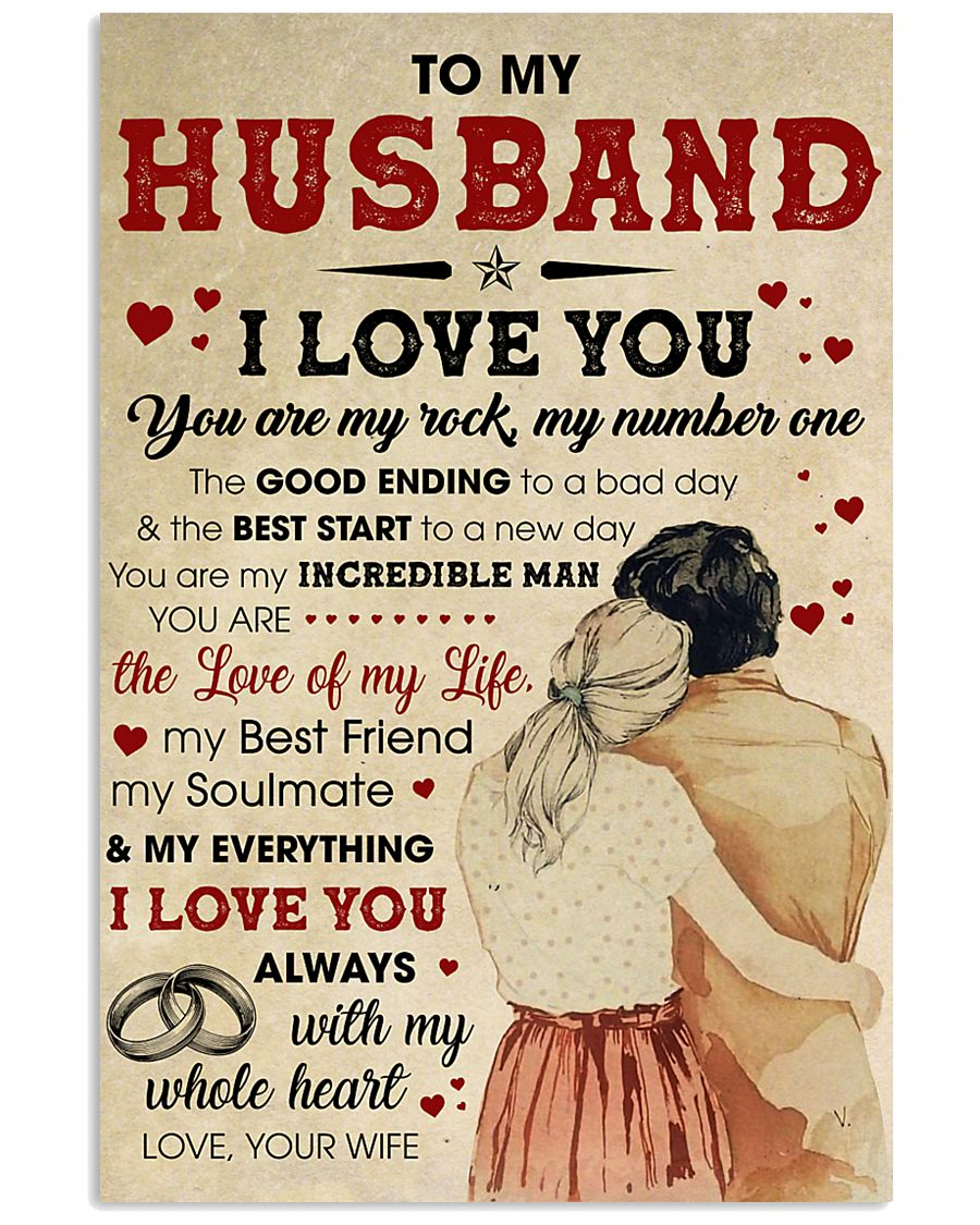 Husband I Love You Always With My Whole Heart 11x17 Poster