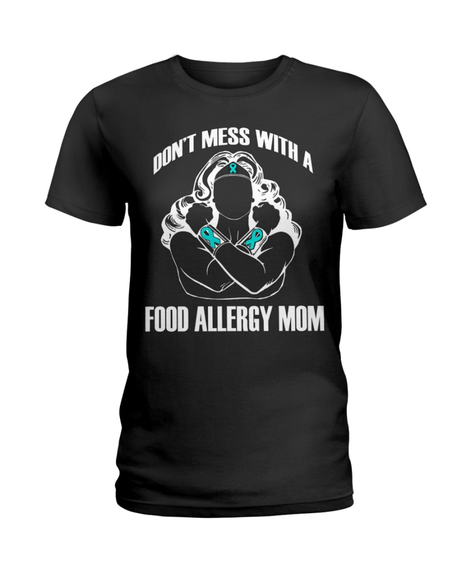 Gits for Mom Don't Mess with a Food Allergy Mom-Be Ladies T-Shirt