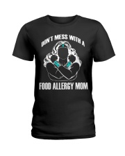 Gits for Mom Don't Mess with a Food Allergy Mom-Be Ladies T-Shirt front