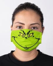 Grinch Face Cloth face mask aos-face-mask-lifestyle-01