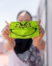 Grinch Face Cloth face mask aos-face-mask-lifestyle-07