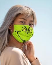 Grinch Face Cloth face mask aos-face-mask-lifestyle-19