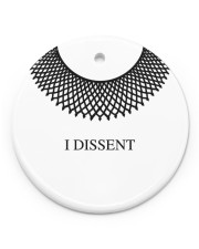 I Dissent Circle ornament - single (porcelain) front