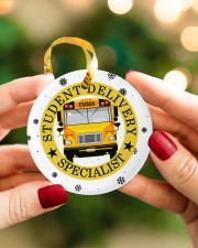 Student Delivery Specialist Circle ornament - single (porcelain) aos-circle-ornament-single-porcelain-lifestyles-08
