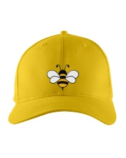 Bee Happy Embroidered Hat front