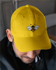 Bee Happy Embroidered Hat garment-embroidery-hat-lifestyle-02