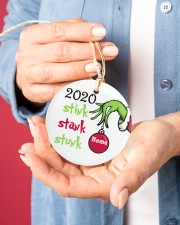 2020 Stink Stank Stunk Circle ornament - single (porcelain) aos-circle-ornament-single-porcelain-lifestyles-01