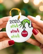 2020 Stink Stank Stunk Circle ornament - single (porcelain) aos-circle-ornament-single-porcelain-lifestyles-08