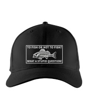 To fish or not to fish hat Embroidered Hat front