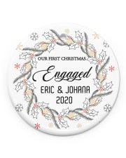 Our First Chirtmas Engaged Circle ornament - single (porcelain) front