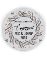 Our First Chirtmas Engaged Circle ornament - single (wood) thumbnail