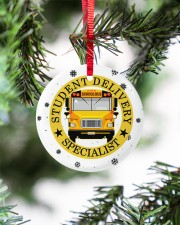 Student Delivery Specialist Circle ornament - single (porcelain) aos-circle-ornament-single-porcelain-lifestyles-07