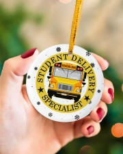 Student Delivery Specialist Circle ornament - single (porcelain) aos-circle-ornament-single-porcelain-lifestyles-09