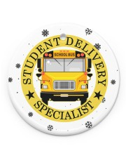 Student Delivery Specialist Circle ornament - single (porcelain) front